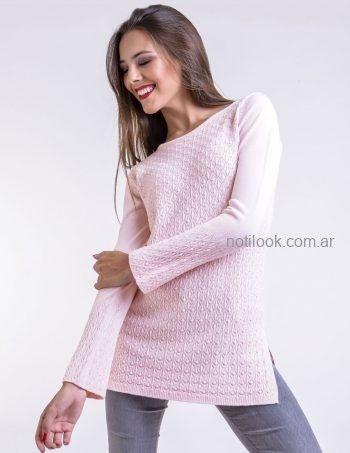 sweater rosa Mauro sergio tejidos otoño invierno 2019