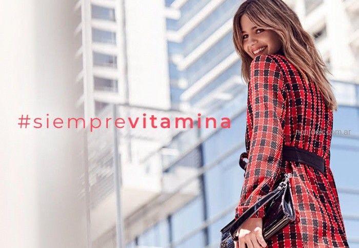 tapado trench a cuadros vitamina invierno 2019