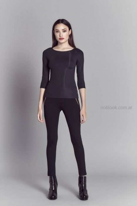 Look basico negro oficina invierno 2019 - Markova