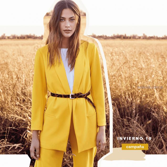 blazer largo mujer amarillo Tucci otoño invierno 2019