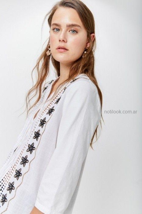 camisa blanca bordada invierno 2019 by Rapsodia