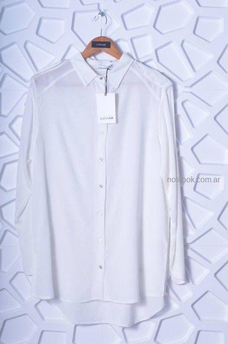 camisa blanca mujer Caviar otoño invierno 2019