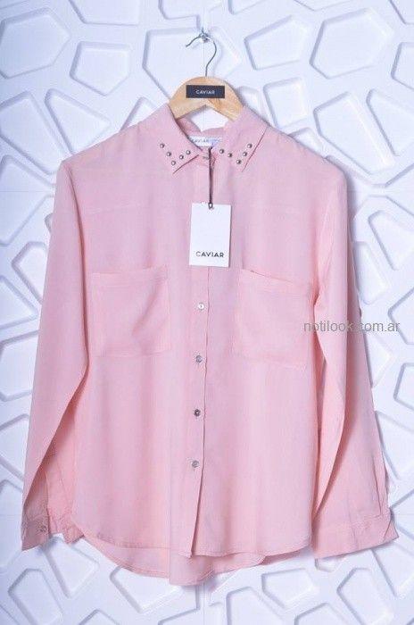 camisa rosa mujer Caviar otoño invierno 2019