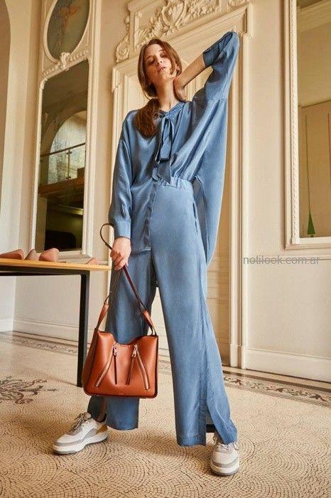 camisas holgadas y palazzo Maria Cher otoño invierno 2019