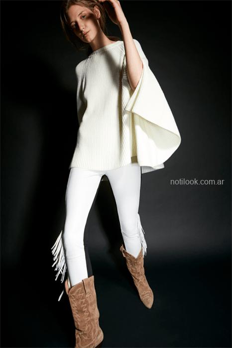 caoa tejida con calza bi color Maria Cher otoño invierno 2019