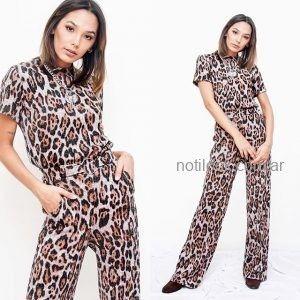 remera y pantalon animal print otoño invierno 2019 - Tramps