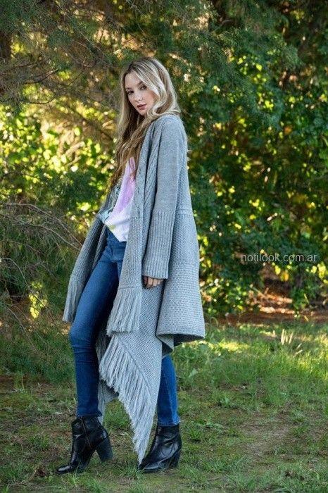 saco gris tejido sophya otoño invierno 2019