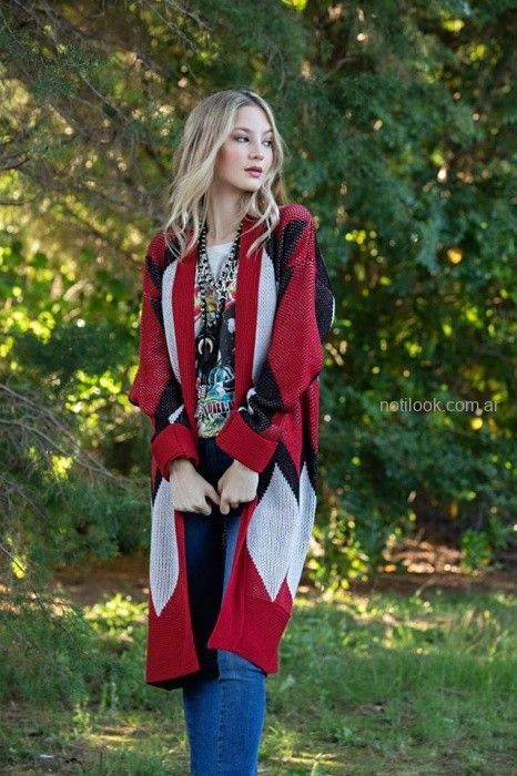 saco largo tejido sophya otoño invierno 2019