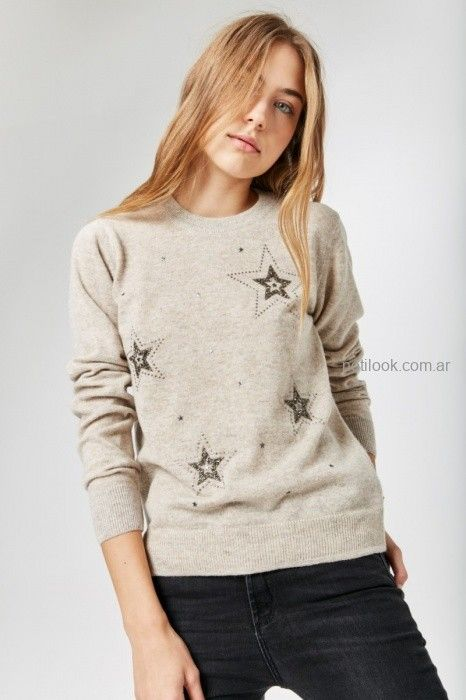 sweater con estrellas bordadas invierno 2019 by Rapsodia