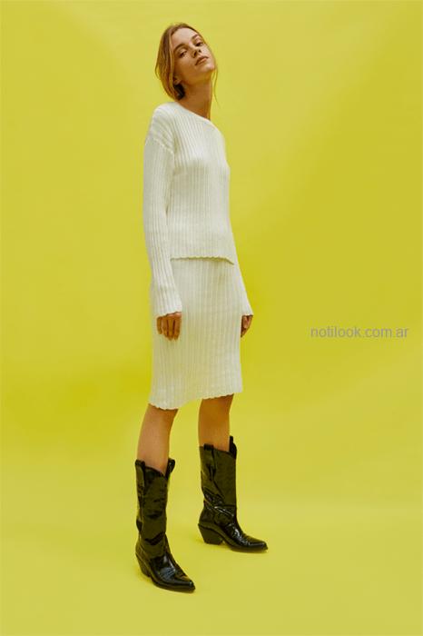 sweater y falda tejida Maria Cher otoño invierno 2019