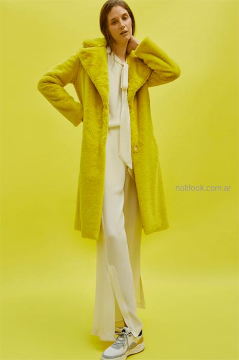 tapado amarillo Maria Cher otoño invierno 2019