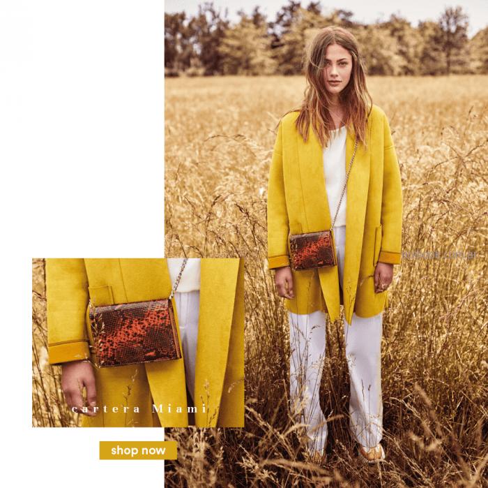 tapado mujer amarillo Tucci otoño invierno 2019