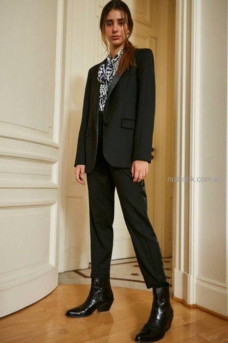trajes de mujer negro Maria Cher otoño invierno 2019
