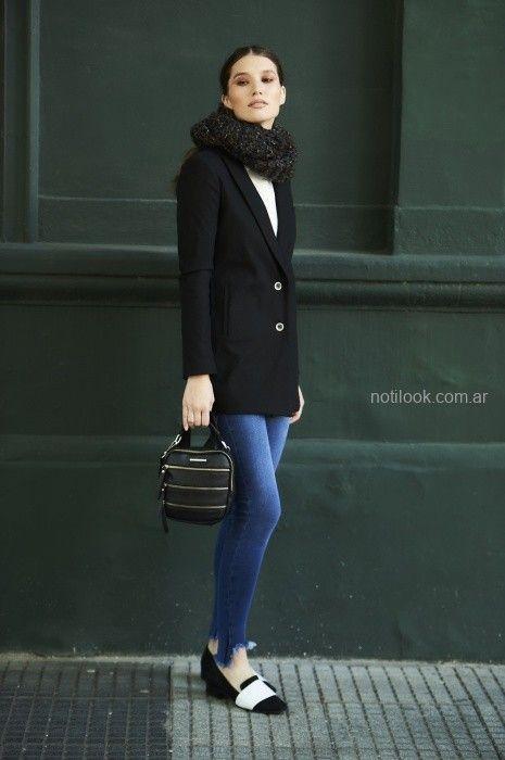 balzer negro y jeans mujer city jenifer argentina invierno 2019