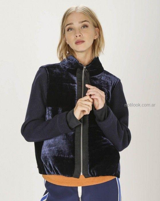 blazer con cierre gamuzado Graciela Naum invierno 2019