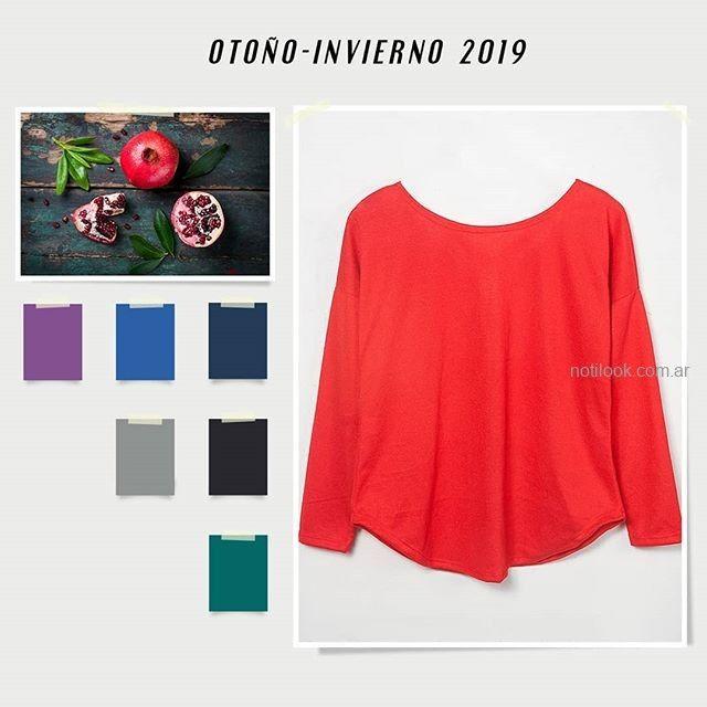 blusa roja lisa Syes invierno 2019