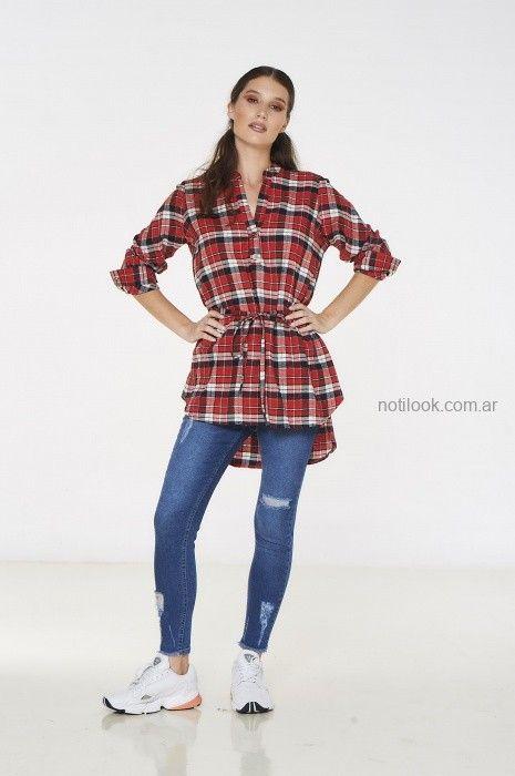 camisa largas y jeans rotos city jenifer argentina invierno 2019