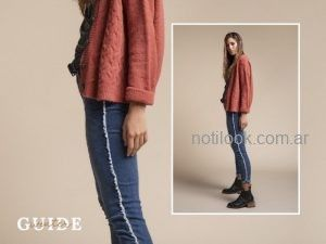 jeans chupin y buzo lana tejido mujer try Me invierno 2019