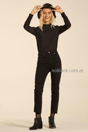 jeans negro Materia invierno 2019