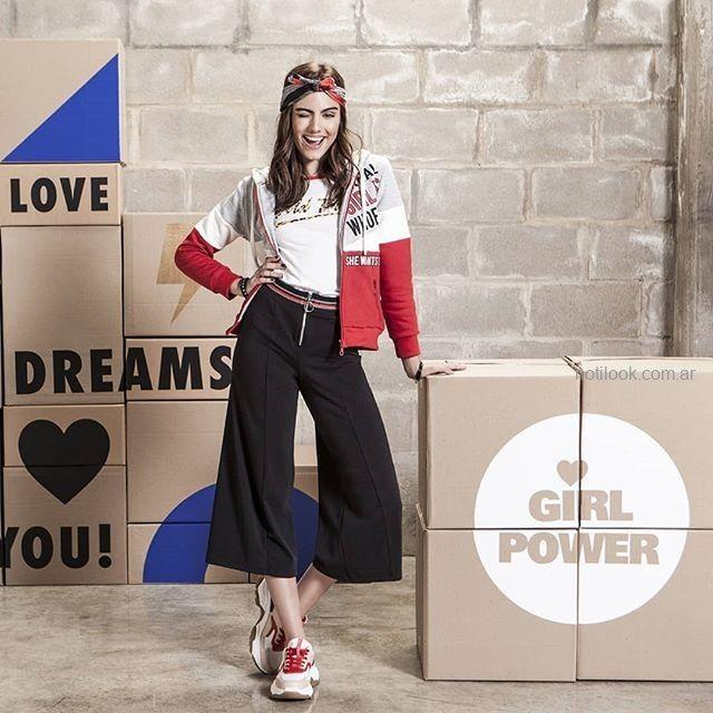 look sporty chic para adolescentes nvierno 2019 Combustion love