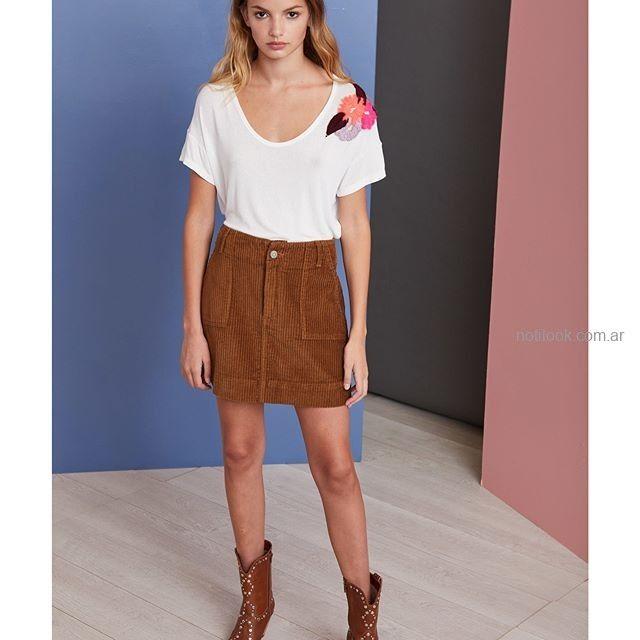minifalda gamuzada vero alfie invierno 2019