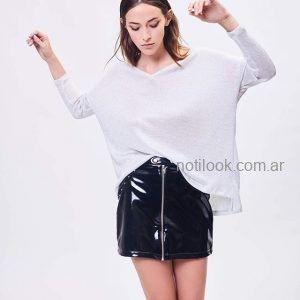 minifalda vinilo invierno 2019 - Zhoue