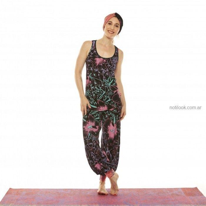 musculosa y babucha estampada invierno 2019 - Juana de arco - ropa para yoga
