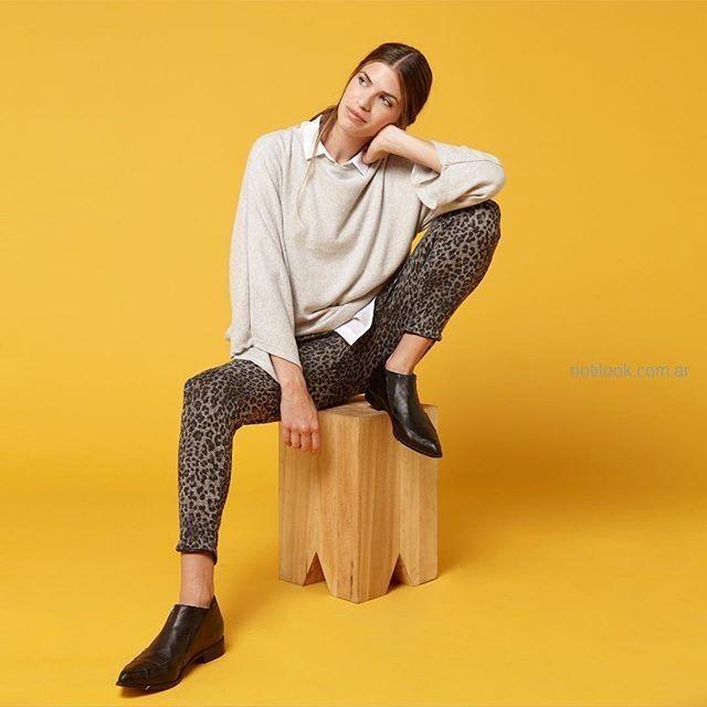 pantalon animal print invierno 2019 - KOXIS