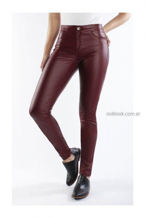 Pantalon Engomado Bordo Invierno 2019 Nahana Notilook Moda Argentina