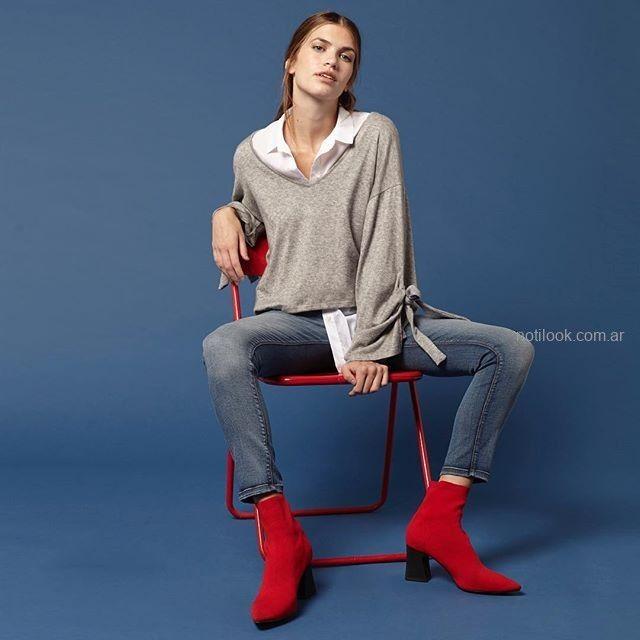 remera gris y jeans invierno 2019 - KOXIS