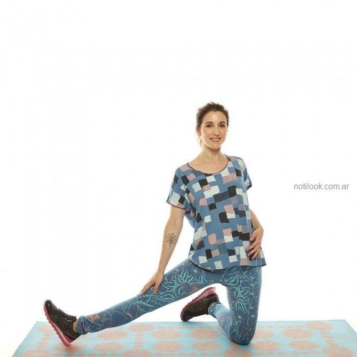 remera y calza estampada invierno 2019 - Juana de arco - ropa para yoga