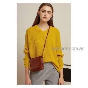 sweater lana mujer tejidos bled inverno 2019