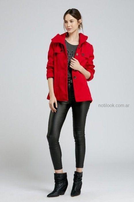 Vesna - pantalon simil cuero negro invierno 2019