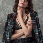 blazer a cuadros mujer juvenil St marie invierno 2019