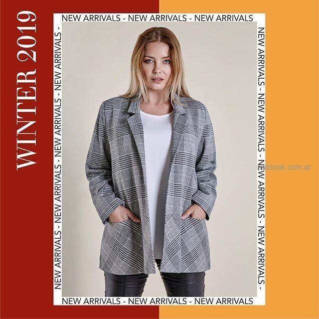 blazer para señoras talles grandes mujer Mamy Blue invierno 2019.jpg