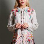 blusa bordada in hilos camisola estilo bohemia Vars otoño invierno 2019