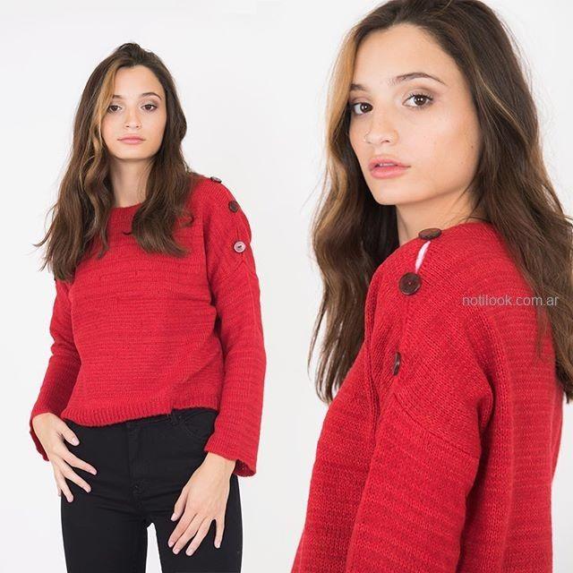 buzo lana mujer juvenil scombro jeans invierno 2019