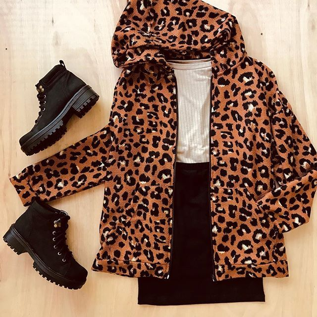 campera animal print juvenil Clan issime invierno 2019