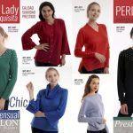 cardiban y sweater con apliques de perlas Vanlon invierno 2019