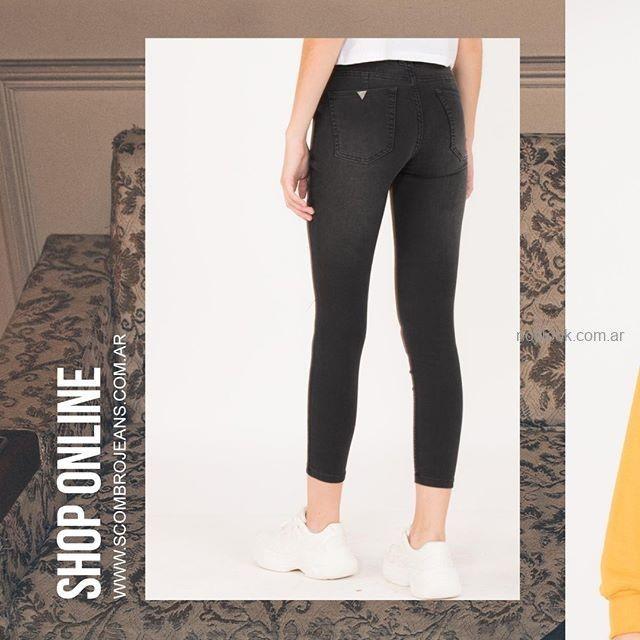 jeans chupin negro scombro jeans invierno 2019