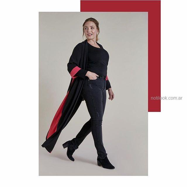 kimono largo talles grandes señoras Mamy Blue invierno 2019.jpg
