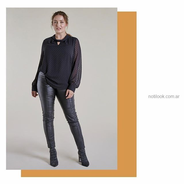 look con pantalon engomado para señoras Mamy Blue invierno 2019.jpg