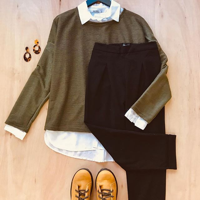 look sweater y camisa mujer Clan issime invierno 2019