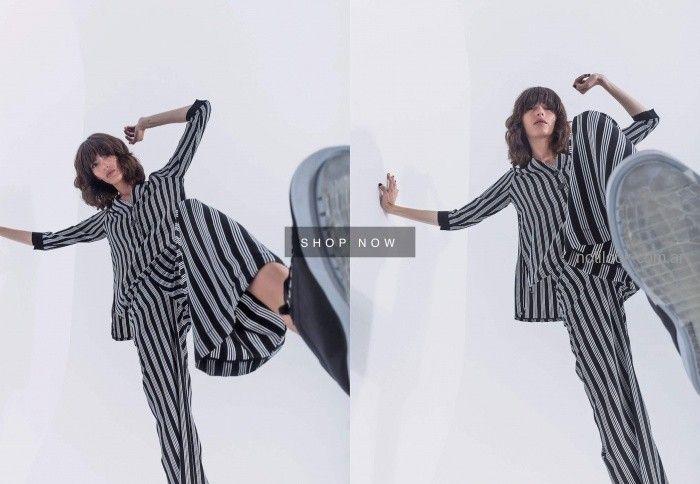 pantalones y blusas a rayas nare invierno 2019
