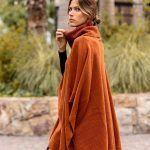 poncho polera tejido mujer Coleccion Akiabara invierno 2019
