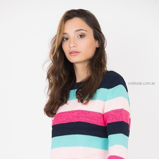 sweater a rayas mujer juvenil scombro jeans invierno 2019
