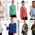sweater y cardigan con volados señoras Vanlon invierno 2019