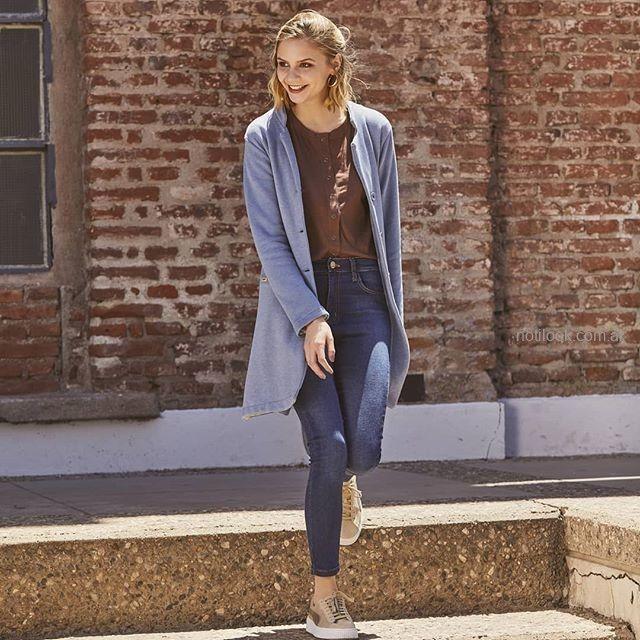 tapado casual jeans mujer wineem invierno 2019
