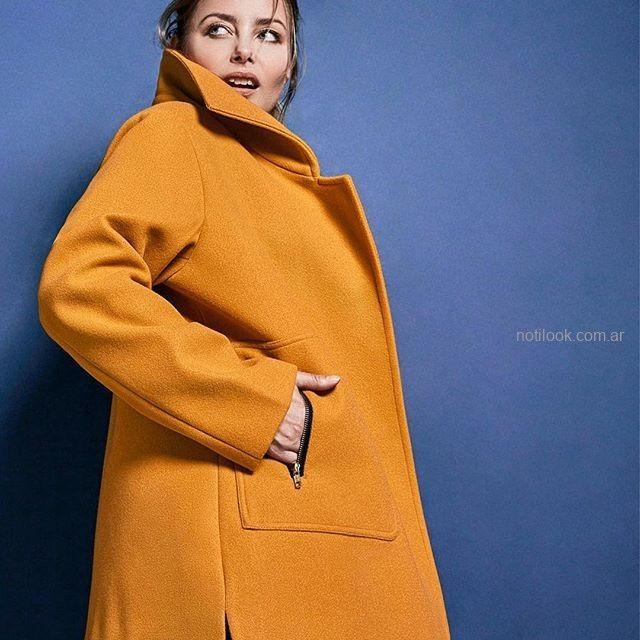 tapado de paño para mujer talles grandes Mamy Blue invierno 2019.jpg