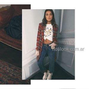 tapado juvenil a cuadros scombro jeans invierno 2019